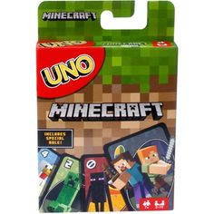 UNO Minecraft Themed Matching Card Game for 2-10 Players Ages 7Y+ - Walmart.com - Walmart.com