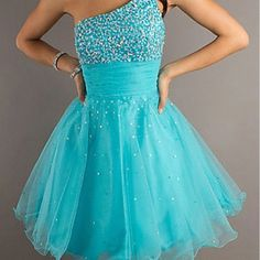 Tiffany blue sparkle dress