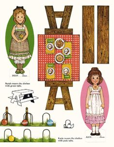 Found my first Paper Dolls online as free printables! Love it!!