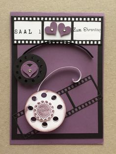Geburtstagskarte Kino Washer Necklace, Jewelry, Cinema Movie Theater, Birth, Cards, Jewlery, Jewels, Jewerly, Jewelery