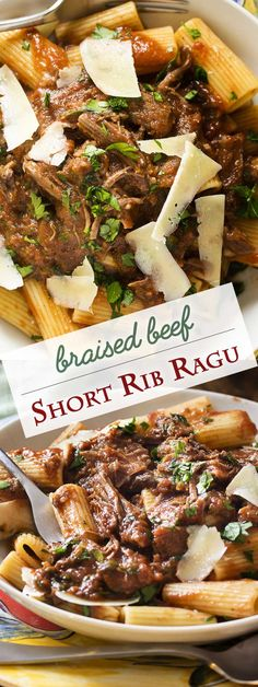 Looking for some Italian comfort food? Tender, oven-braised beef in a rich and velvety tomato, red wine sauce makes a short rib ragu with complex flavors perfect for ladling over pasta, polenta, or mashed potatoes. | justalittlebitofbacon.com #italianrecipes #comfortfood #tomatosauce #pasta #italianfood