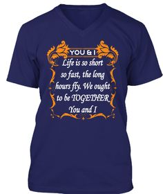 Life Is So Short  Life Together T Shirt Navy T-Shirt Front