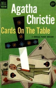 Cards on the Table by Agatha Christie.  Dell edition.