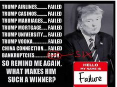 trump, born on base and still couldn't make a home run. Trump Bankruptcies, John Trump, Archive Video, Shell Game, Current President, Trump Tower, Get Educated, Us Politics, Gingham