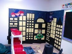 Superhero themed classroom. I love this idea, I know a teacher who used it this year and the kids love it!
