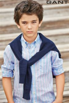Gant Blue/Pink Stripe Shirt (7-16yrs)