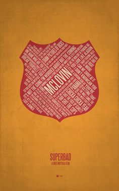 Typographical poster by Jerod Gibson - Superbad