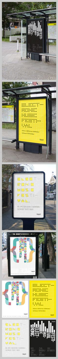 simulation posters for electronic music festival