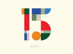 15 by Steve Wolf The way the numbers are broken up into several units adds more visual interest Vintage Typography, Typography Letters, Lettering, Typography Logo, Logos, Typography Design, Branding Design, Logo Design, Number Typography