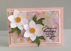 Casual card - All Days are Beautiful That Begin With You DSP card, Product Spotlight sample. Featuring the Floral Essence stamp set by Stampin' Up! Calligraphy Cards, Stampin Up Catalog, Stamping Up Cards, Card Maker, Card Sketches, Flower Cards, Creative Cards, Anniversary Cards, Making Ideas