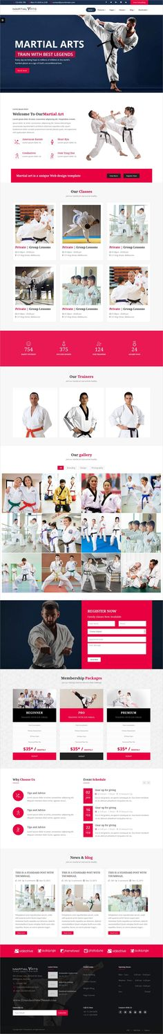 MartialArts is clean and modern design responsive #HTML5 template for #karate academy and martial arts #training center website with multiple homepage layouts download now..