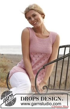 Размеры: S-M-L-XL-XXL-XXXL Потребуется: • Пряжа Muskat от Drops (100% хлопок, 50г/100м), 350-400-450-500-550-600 грамм, цвет № 06, светло-розовый.