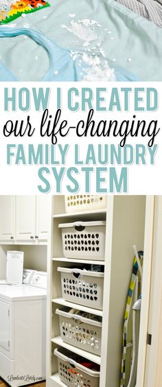 Ready to establish an effective, life-changing laundry system in your home? Get tips and tricks for streamlining the process, with ideas for either small or big families! There are also simple supply and washing machine/dryer recommendations. Big Family Organization, Laundry Room Organization, Organization Hacks, Laundry Rooms, Laundry Area, Organizing Ideas, Laundry Shoot, Refrigerator Organization, Basement Laundry