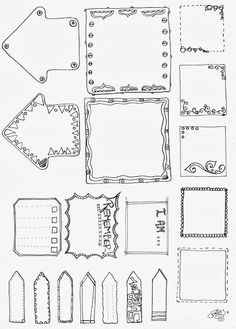 Free printables frames & arrows