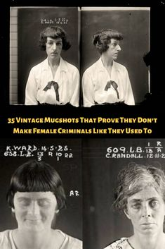 35 #Vintage #Mugshots That #Prove They Don't Make #Female #Criminals Like They Used To