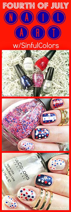 Notes from My Dressing Table: Fourth of July Nail Art Featuring SinfulColors *pr