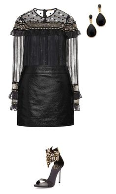 """1"" by sibelonal ❤ liked on Polyvore featuring Dodo Bar Or, Yves Saint Laurent, René Caovilla and Kenneth Jay Lane"