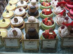 Beauty - Laduree French bakery - photo of one of the cases, feels like you're right there!