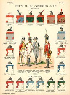 Великое герцогство Вюрцбург. Союзные войска. Uniformes de I'Armee Francaise 1690-1894 Lienhart & Humbert