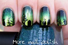 """More Nail Polish: Graveyard """"This is Halloween Nail Art Challenge"""""""