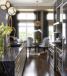 Dining Room Updates, Modern Rooms - Home Decoration Ideas Home Decor Kitchen, Interior Design Kitchen, Home Kitchens, Interior Decorating, Modern Interior, Luxury Kitchens, Kitchen Wood, Kitchen Ideas, Luxury Interior