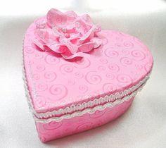 Heart shaped gift box Valentine gift box by designedbymarylou