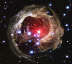 V838 Mon: Echoes from the Edge   Variable star V838 Monocerotis lies near the edge of our Milky Way Galaxy, about 20,000 light-years from the Sun.  Credit: NASA and the Hubble Heritage Team (AURA/STScI)