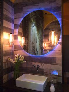 THE BATH - Katherine Rahal  - CasaCor 2014 My Design, Design Ideas, Powder Room, Weird, Decorating Ideas, Future, Mirror, Cool Stuff, Bathroom