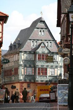 An old hotel and restaurant in Miltenberg.   It's meant to be Germany's oldest hotel and there were already some kings staying there...now it houses a traditional restaurant with delicious dishes and great regional beer