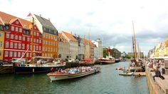 Copenhagen, Denmark. New Years resolution, see more of the world! The colors of this city are beautiful and welcoming.