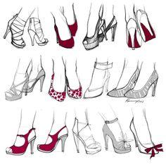 Как рисовать ноги и обувь