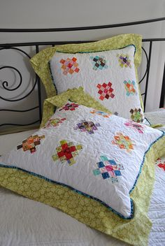 Granny Square Pillows with Flange by Sew Me Something Good
