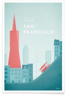 San Francisco - Henry Rivers - Premium poster