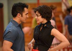 """Carlos Pena-vega & Vanessa Hudgens as """"Rizzo & Kenickie"""" in Grease Live"""