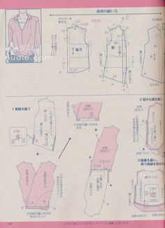 Drape blouse/ patterns instructions