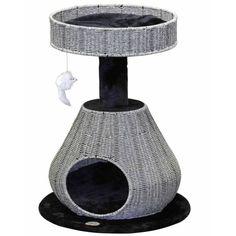 GoPetClub Rattan Wicker Cat Tree Furniture