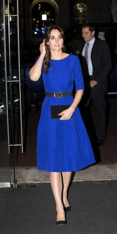 Kate wearing a Saloni dress