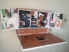 DIY PORTABLE WORK STATION Portable Work Table, Portable Workstation, Portable Garage, Portable Workbench, Desk Storage, Tool Storage, Storage Boxes, Fold Out Desk, Tool Box Diy