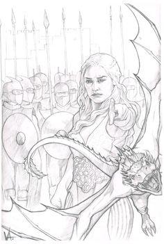 Daenerys Targaryen by MonkeyFire99.deviantart.com on @DeviantArt