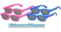 4 pairs - Children's Passive 3D Glasses for Kids Genuine Ultimate 3D Heaven Sealed RealD Compatible Circular Polarized 3D Glasses for Passive 3D TV's Televisions from Vizio, Toshiba, LG, Philips and JVC and for use in Real-D Theaters by 3DHeaven. $1.95