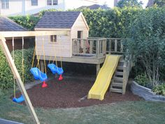 Our new playhouse! Yes, I have been playing in it too. So much fun.