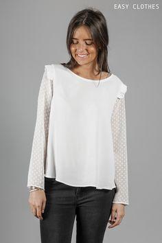 Blouse Cruz plumetis blanche en vente sur Easy Clothes