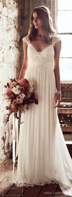 Wedding Dress by Anna Campbell Eternal Heart collection 2018.  Very pretty.  #wedding  #dress  #beach wedding  #bridal