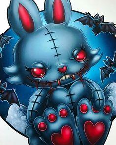 Voodoo Doll Tattoo, Voodoo Dolls, Emo Art, Goth Art, Creepy Art, Creepy Dolls, Dark Fantasy Art, Dark Art, Cute Animal Drawings