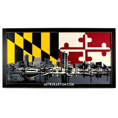 Skyline with MD Flag - Art by Barton