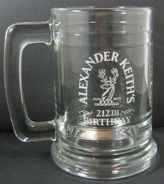 ALEXANDER KEITH S 212TH BIRTHDAY, ANNIVERSARY 14fl.Oz. Beer Glass Stein