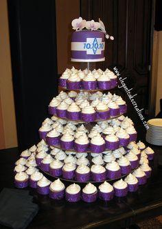 White and Purple Wedding Cupcakes by Elegant Cake Creations AZ, via Flickr