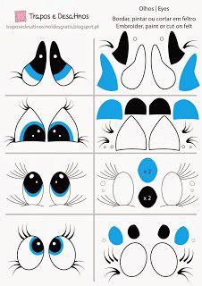 Moldes Grátis | Free Sewing Patterns: Olhos para pintar ou bordar 2 | Eyes pattern to pa...