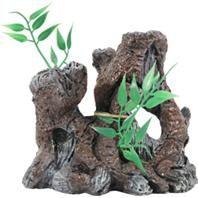 BioBubble - The Old Stump Ornament - Brown - 4.25X3X4.25 Inch :: Ornaments :: Aquarium Products :: PetWholesaler.com
