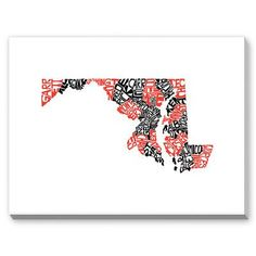Americanflat CAPow Maryland Textual Art on Canvas Size: